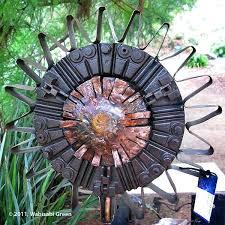 metal for gardens metal wall garden ridge rustic moon