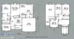 4 Bedroom Two Storey House Plans 4 Bedroom House Plans With Courtyard Decohome