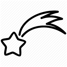 shooting star clipart 13032 clipartion