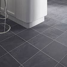 random slate tile effect laminate flooring