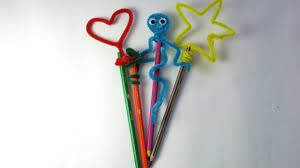 diy pipe cleaner pencil toppers easy crafts for kids youtube