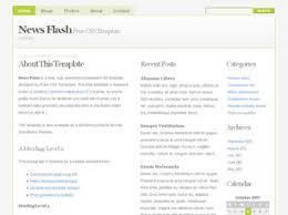flash website template free news flash free website template free css templates free css