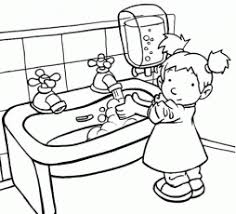 Hand Washing Coloring Sheets - washing hands coloring page coloring home