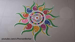 diwali special multicolored rangoli design simple craft ideas