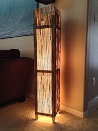 Rustic Floor Lamps Bamboo Rustic Floor Lamp Beach Lamp Rustic Wood Floor By Labambooa