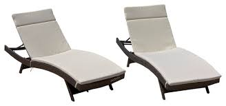 Pool Chaise Lounge Chairs Lakeport Outdoor Adjustable Chaise Lounge Chairs With Cushion Set