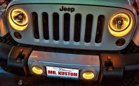 2012 jeep wrangler headlights 2012 jeep wrangler yellow halo headlights rings mr kustom auto