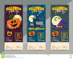 happy halloween party flyer template design stock vector image