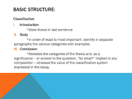Classification Essay Writing Guide