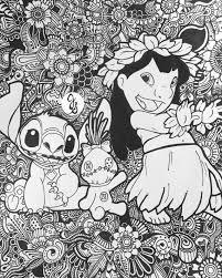 lilo stitch design floral par byjamierose sur etsy disney