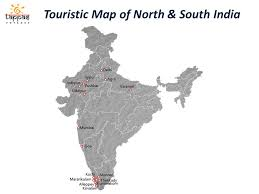 touristic map of discover india with tappas voyages touristic map of south