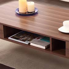 Cheap Modern Coffee Table Furniture Of America Berkley Mid Century Modern Walnut Coffee