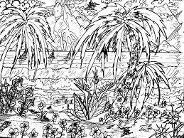 for adults landscape coloring pages for adults tropical page with regard