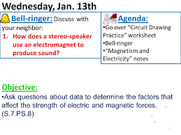 monday jan 11th 1 bell ringer get out and complete your u201ctake