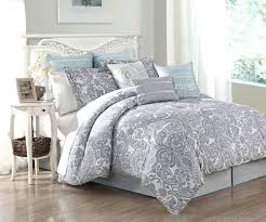Grey Twin Bedding White Comforter Sets Full Dawson Blue And White 8piece Reversible