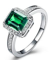 white emerald rings images Classic 1 50 carat emerald and diamond engagement ring in white jpg