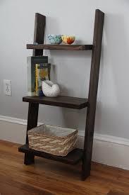 leaning ladder shelf bedside table leaning book shelf