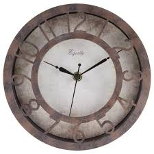 Wall Clock Equity By La Crosse 8 In Round Patina Analog Wall Clock 20861