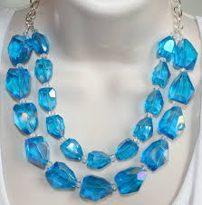 blue crystal statement necklace images Chunky blue crystal quartz statement by 123gemstones on zibbet jpg