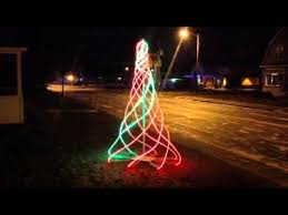 arduino powered led spiral tree