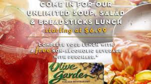 Printable Olive Garden Coupons Olive Garden Coupon For A Free Beverage With Purchase