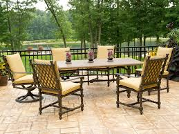 Landgrave Patio Furniture by Luxury Landgrave Bretain Cushion Cast Aluminum Dining Set Breds