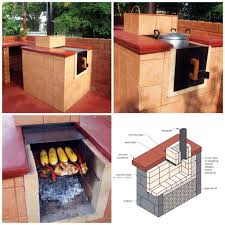 stunning all in one outdoor kitchen also diy grill oven stove