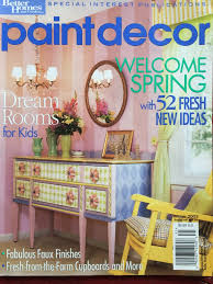 better homes and gardens paint decor magazine featuring princess