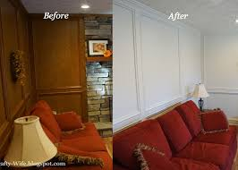 Before And After Living Rooms by Judges Painted Paneling Before And After A Crafty Wife