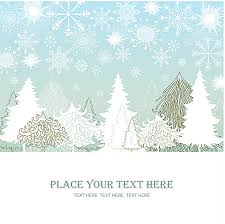 beautiful fresh snow christmas poster background material