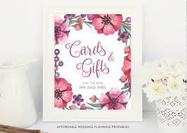 wedding gift table sign cards and gifts wedding sign floral wedding printable gift table
