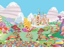 candyland castle colorful candy land vector background welovesolo