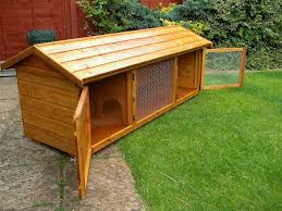 Rabbit Hutch Wood British Giant Hutch 6ft Wire Door Wooden English Giant Rabbit Hutch