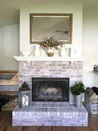Whitewashing A Fireplace by Painted Stone Fireplace Before And After Fireplace Pinterest
