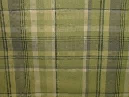 elgin sage green wool effect washable thick tartan curtain fabric