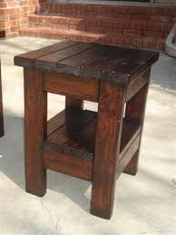 Rustic Side Table 2x4 Pine Wood End Table Rustic Farmhouse Style Free Plans Dark