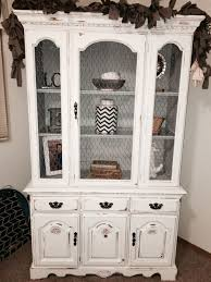 shabby chic china cabinet broyhill china cabinet hutch given a chalk painted shabby chic