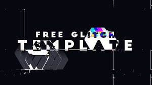 after effects free glitch template youtube