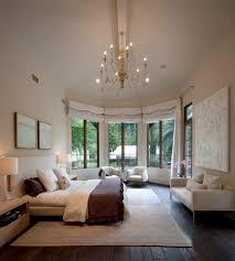 abstract art beige bedroom mediterranean with high ceilings high