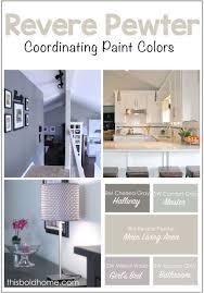 benjamin moore u0027revere pewter u0027 and coordinating paint colors