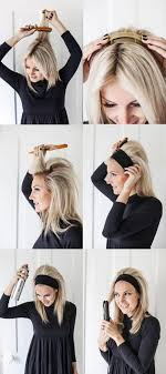 poof at the crown hairstyle hair band and poof step by step instructions puff hairstyles