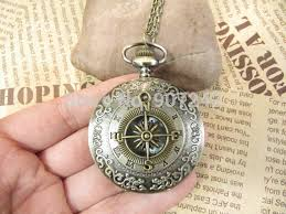 pocket watch necklace wholesale images Wholesale vintage compass roman grain pocket watch necklace charm jpg