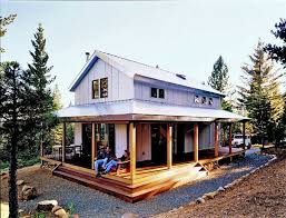 house wrap around porch relaxing metal building cabin with wrap around porch with plans