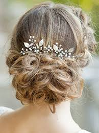 bridal hair yean silver bridal hair pins set wedding leaf hair