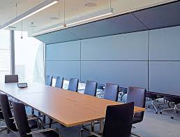 vertical retractable acoustic walls skyfold zenith series by