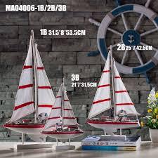modern style sailing boat ship wood crafts ornaments