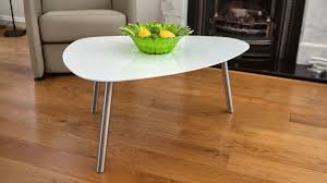 Modern White Coffee Table White Gloss Coffee Table Angled Brushed Metal Legs Uk