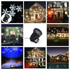 1 snowflake led projector lights 1 green red laser projector