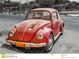 red volkswagen beetle old red volkswagen beetle car stock photo image 54887561