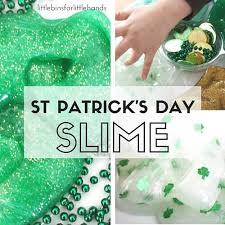 st patricks day slime slime recipe and science activity for kids
